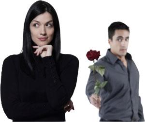 guy giving rose